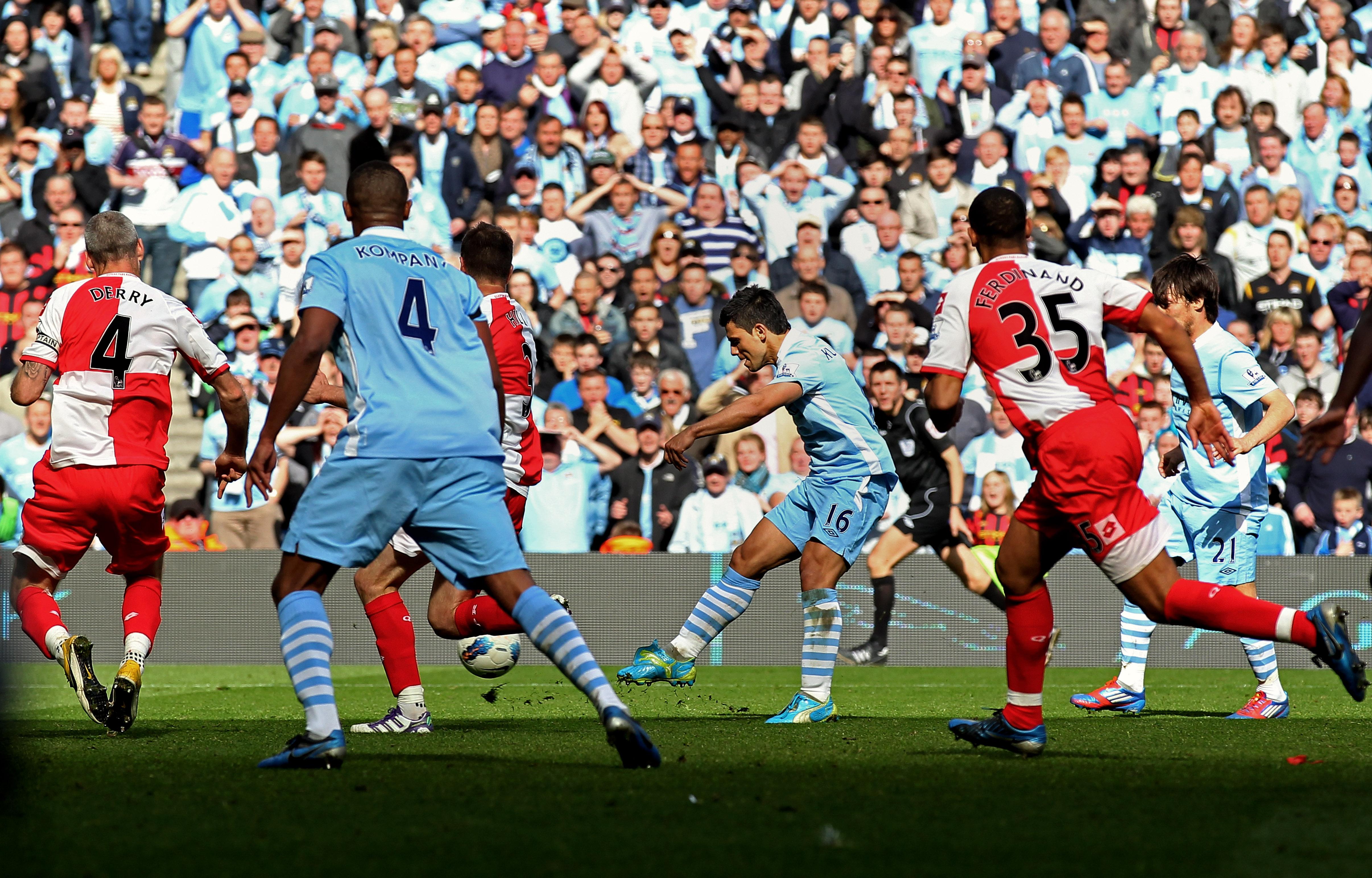Sergio Aguero Manchester City QPR 2012