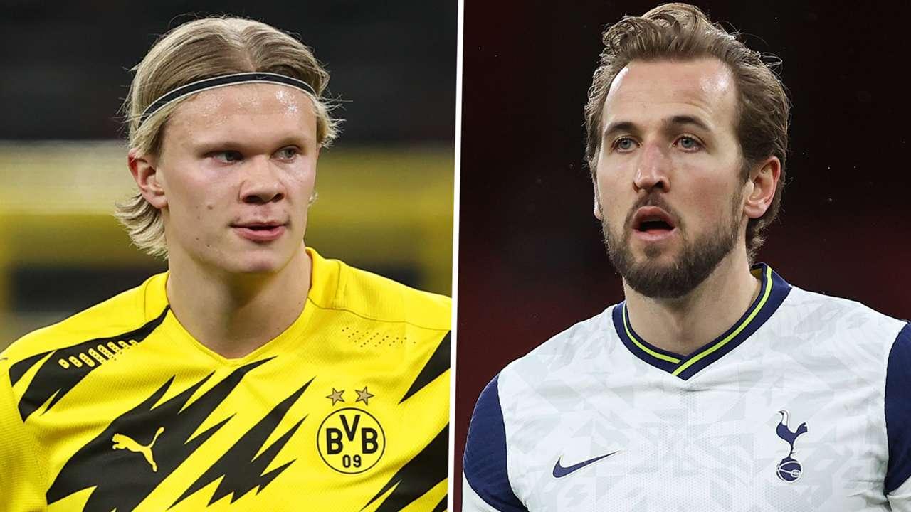 Erling Haaland Harry Kane Dortmund Tottenham 2020-21