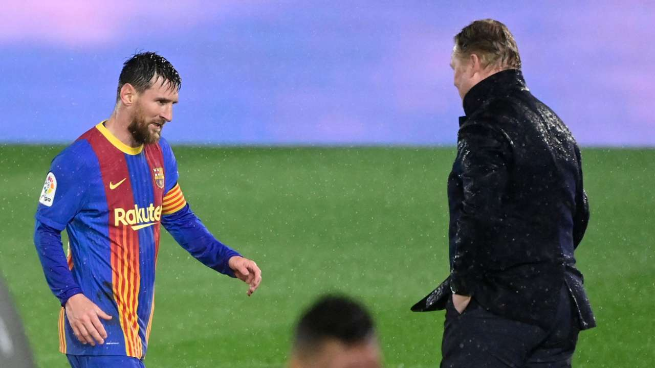 Messi Koeman Barcelona Real Madrid Clasico