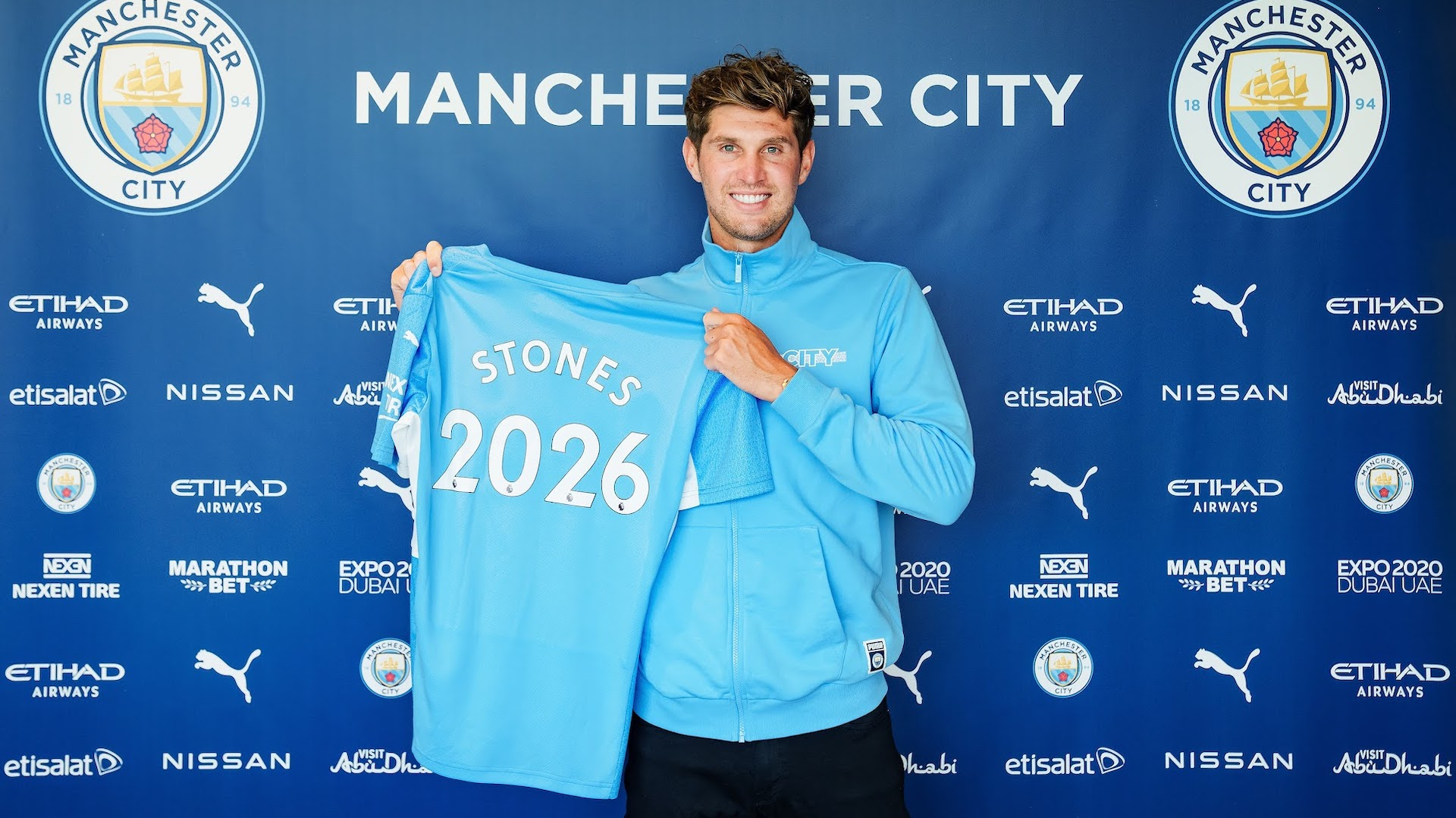 Stones signs new five-year contract with Manchester City