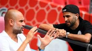 Riyad Mahrez Pep Guardiola Man City