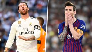 Ramos Messi Real Madrid Barcelona split 2019