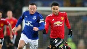 Wayne Rooney Jesse Lingard Everton Manchester United