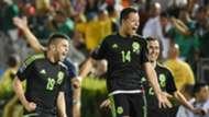 Javier Hernandez Oribe Peralta Paul Aguilar Mexico CONCACAF Cup