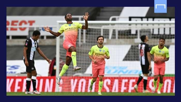 Raheem Sterling Manchester City Newcastle 2019-20 GFX