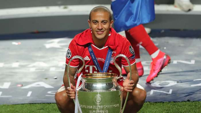 Thiago Alcantara Bayern campeão Champions League 23082020