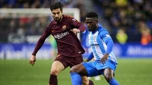 Andre Gomes Isaac Success Malaga Barcelona La Liga