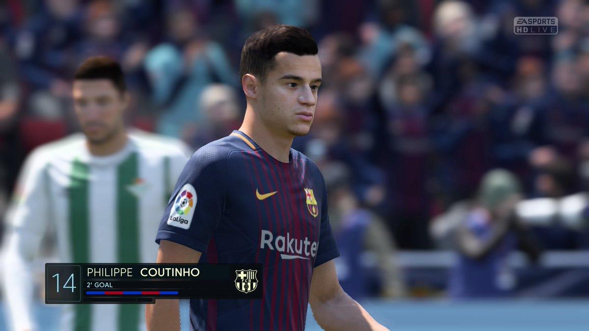 FIFA 18 Coutinho Barcelona