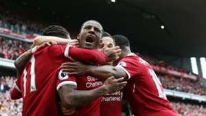HD Gini Wijnaldum Liverpool celebrates
