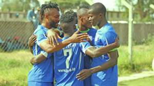 Bandari Players celebrate a goal