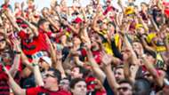 Torcida do Flamengo na arquibancada