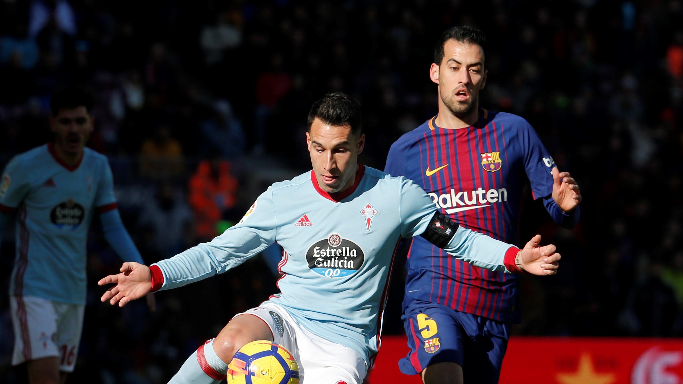 Hugo Mallo Sergio Busquets Barcelona Celta LaLiga 02122017