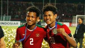 Selebrasi Indonesia U-16 - Amiruddin Bagus Kahfi & Amiruddin Bagas Kaffa