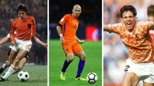 Johan Cruyff Arjen Robben Marco van Basten Holland