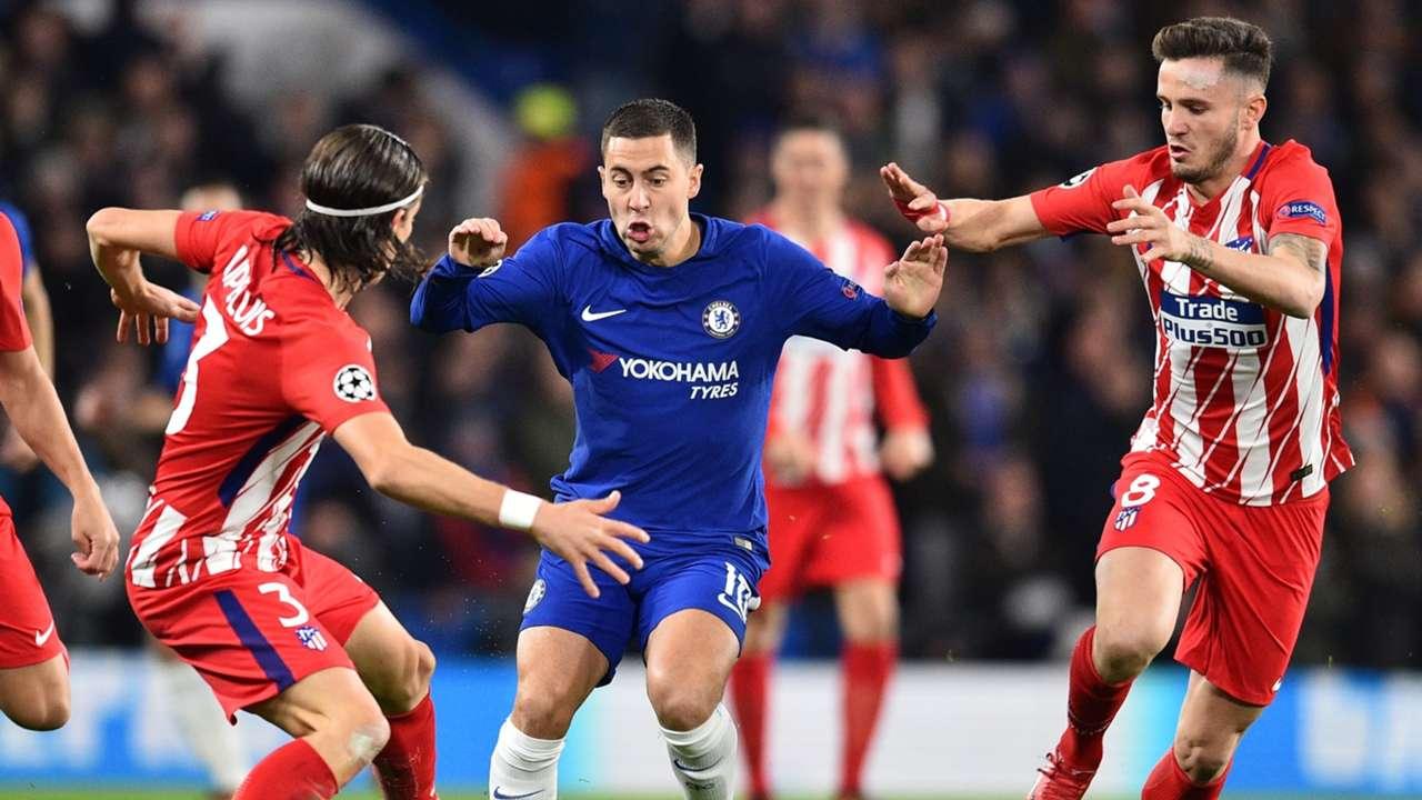 Eden Hazard, Chelsea vs Atletico Madrid