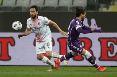 Hakan Calhanoglu Fiorentina vs AC Milan 03.21.2021