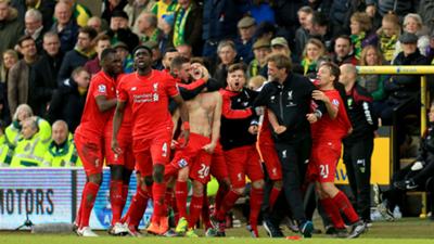 Liverpool Norwich City 2015-16 Premier League
