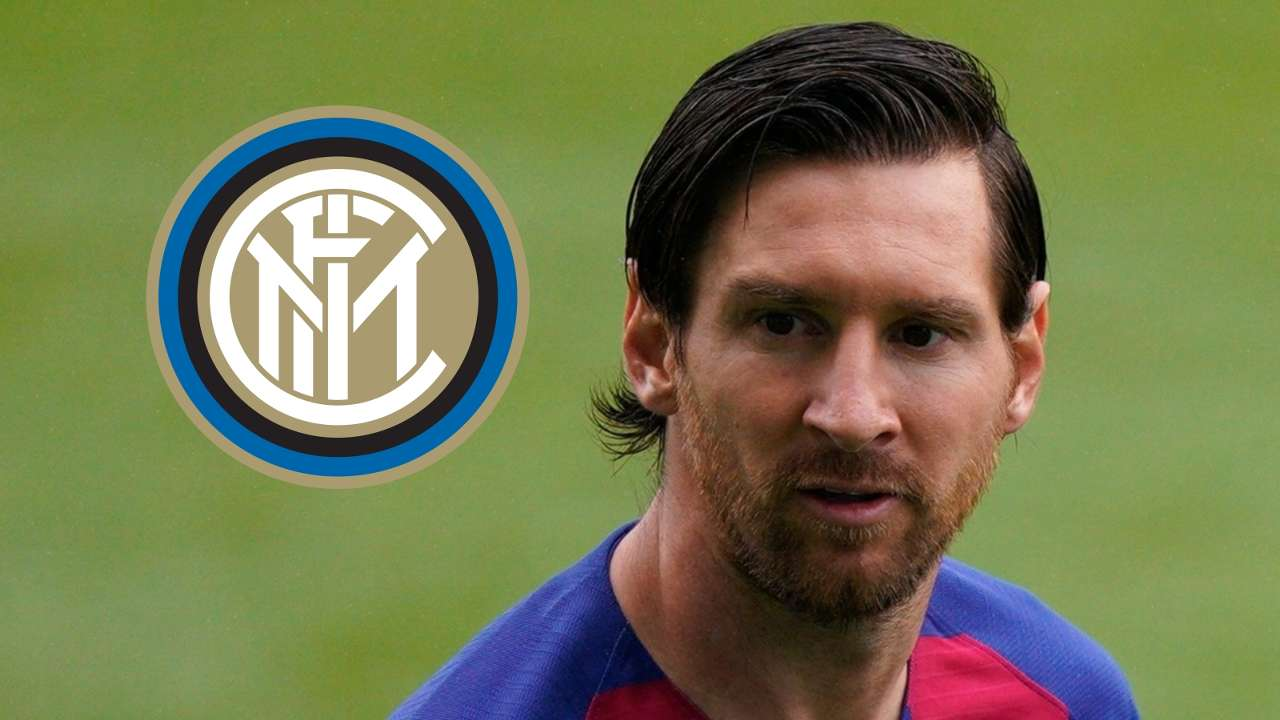 Lionel Messi, Barcelona, Inter badge