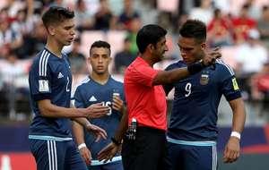 Lautaro Martinez Red Card U20 Argentina U20 England