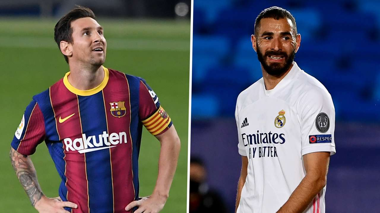 Lionel Messi Karim Benzema Barcelona Real Madrid GFX
