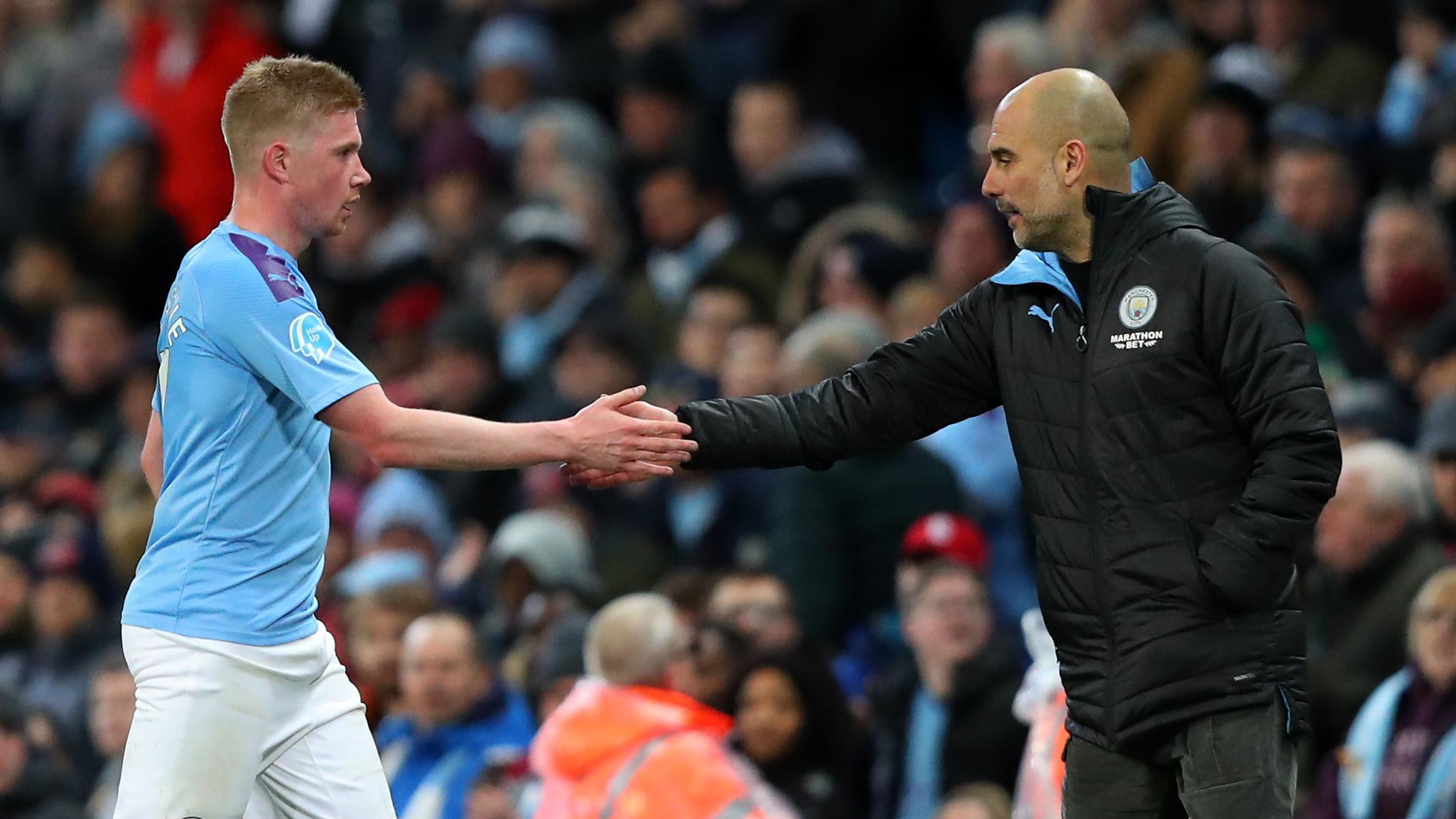 Kevin De Bruyne/Pep Guardiola Manchester City 2019-20