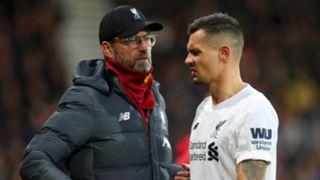 Jurgen Klopp Dejan Lovren Liverpool 2019-20