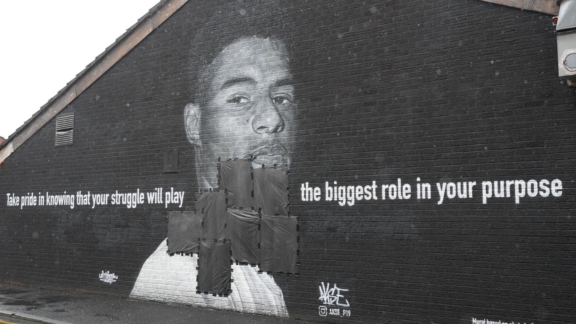 Marcus Rashford mural vandalised following England's Euro 2020 final loss  to Italy | Goal.com