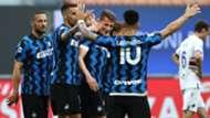 Inter players celebrating Inter Sampdoria Serie A