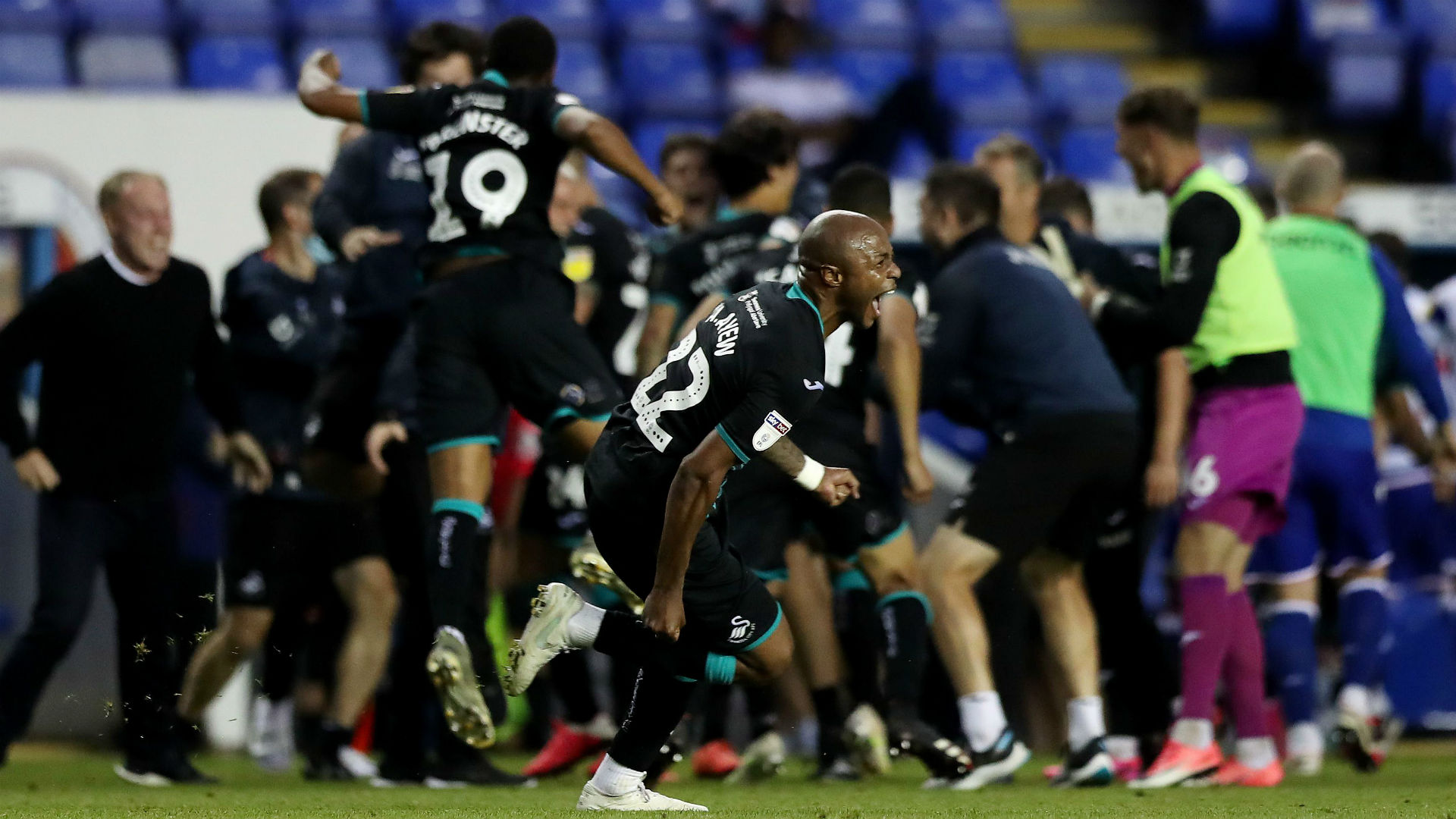 Reading's Meite sees red as Andre Ayew's Swansea City book play ...
