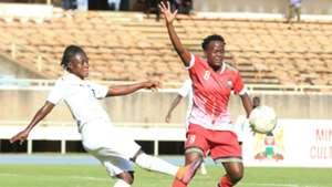 Juiet Achiempong of Ghana vs Mecry Airo of Kenya and Harambee Starlets.