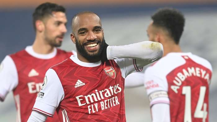 Lacazette Arsenal West Brom 2020