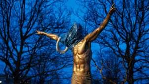 Zlatan Ibrahimovic statue Malmo