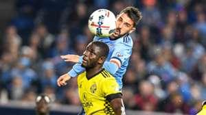 David Villa, New York City FC, Jonathan Mensah, Columbus Crew
