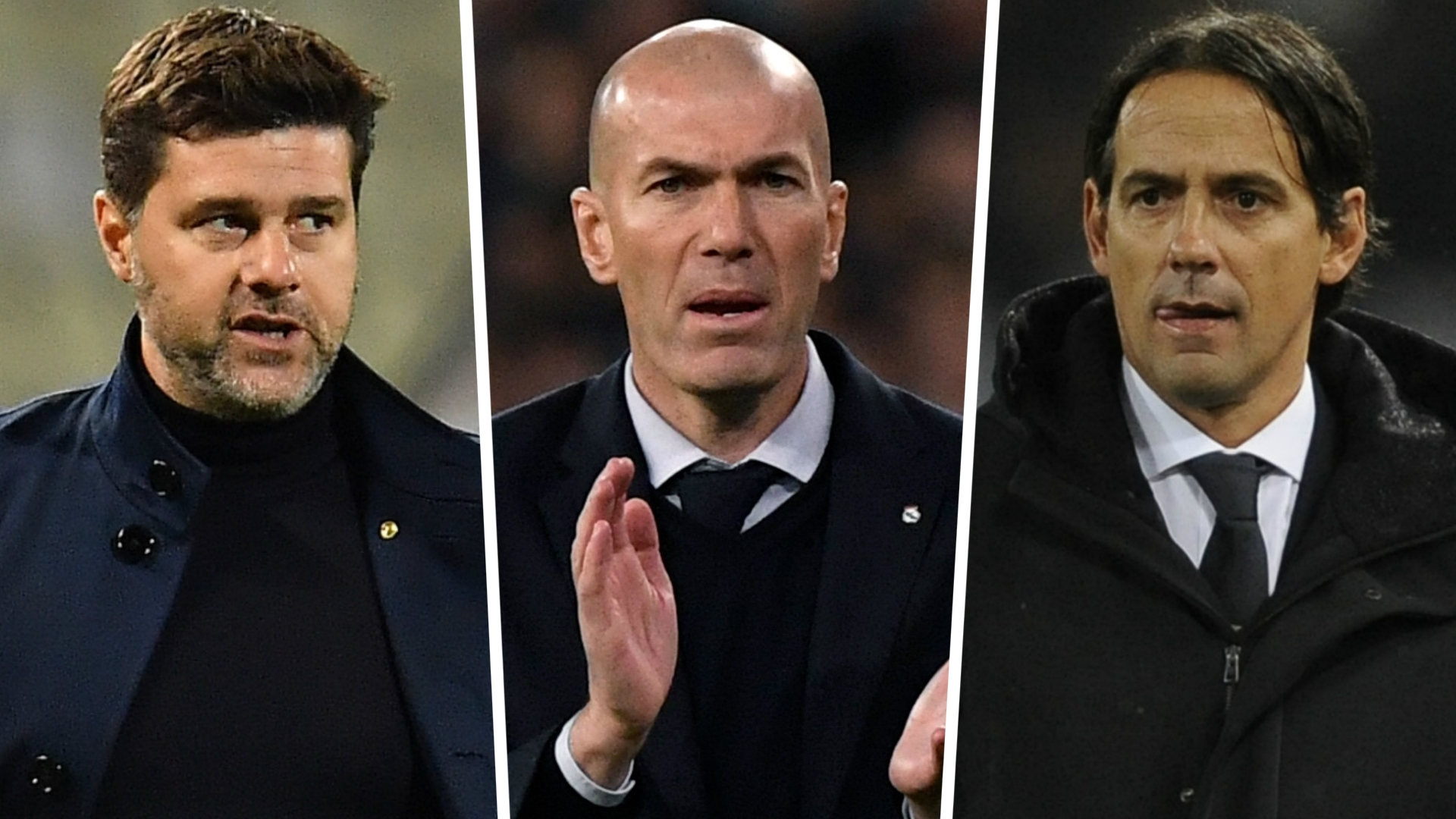 Zidane, Inzaghi and Pochettino the leading candidates to replace Sarri at Juventus
