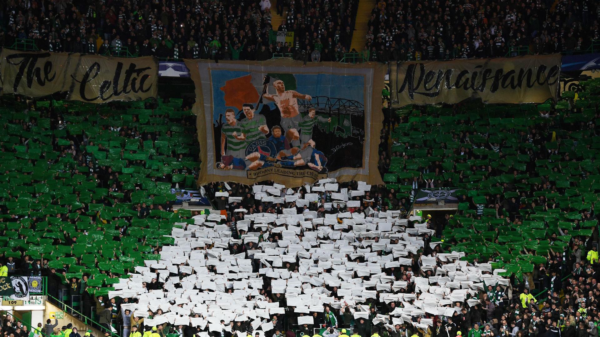 Celtic fans v PSG Champions League