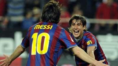 Lionel Messi Bojan Krkic Barcelona