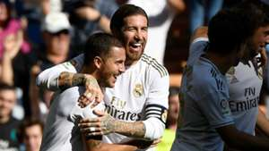 Sergio Ramos Eden Hazard Real Madrid 2019-20