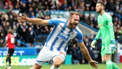 Laurent Depoitre Huddersfield Town Manchester United
