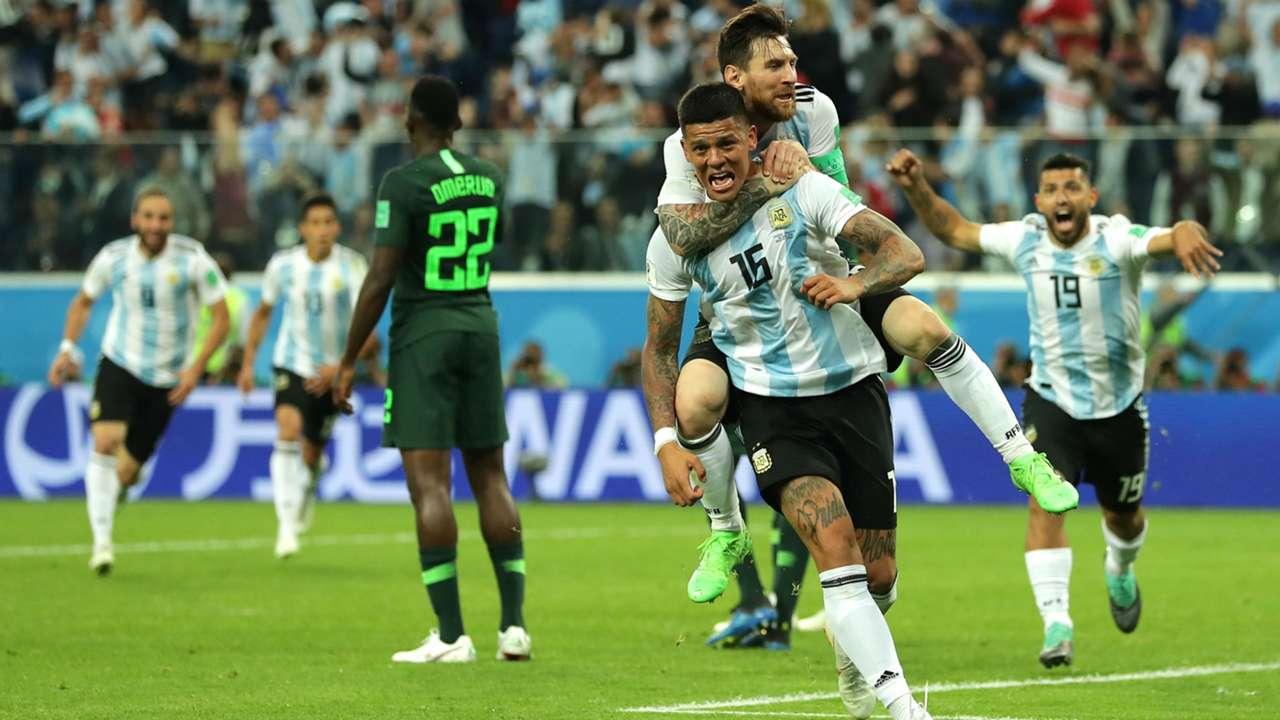 Messi Marcos Rojo Argentina Nigeria World Cup Russi 2018 26062018