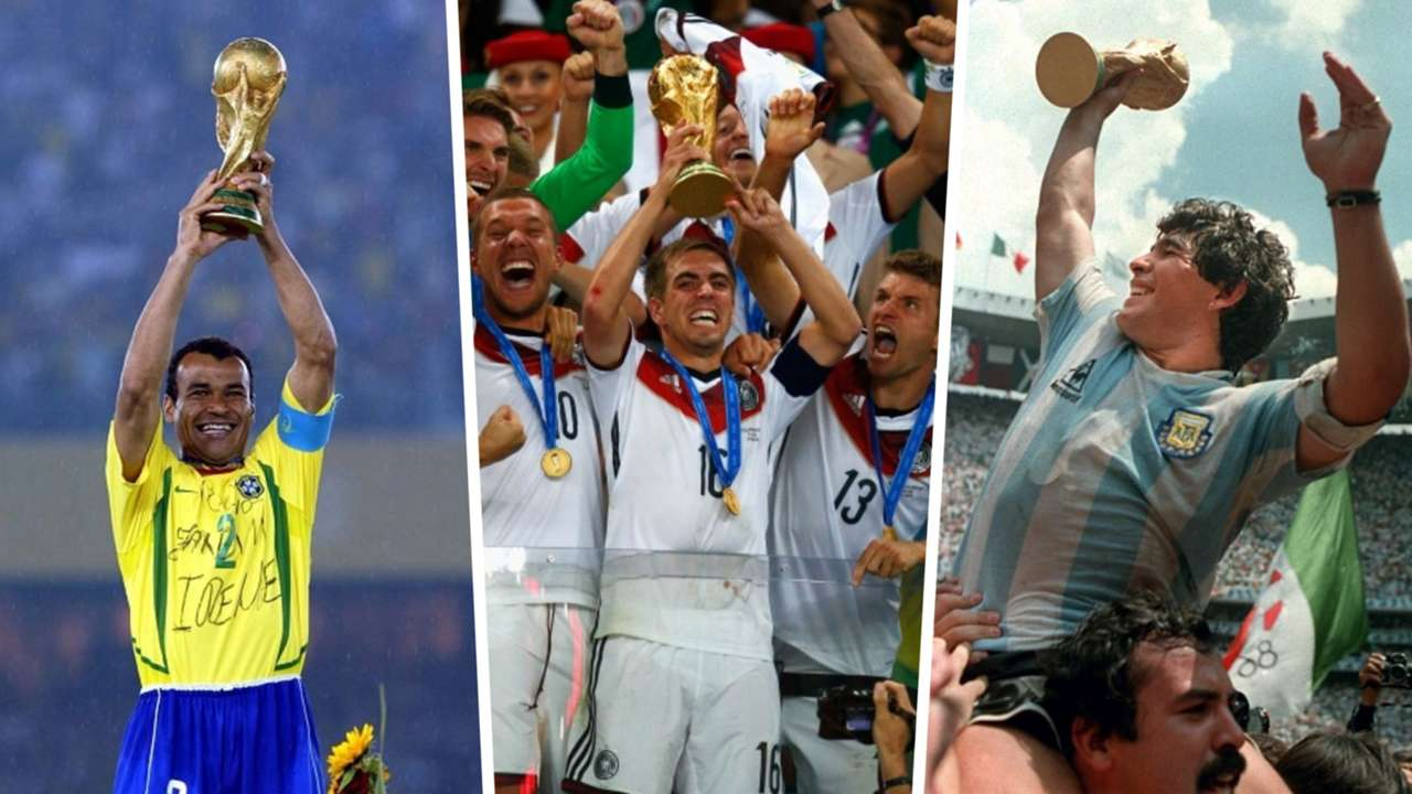 Cafu, Philipp Lahm, Diego Maradona, World Cup