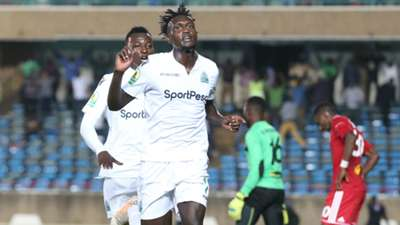 Benard Ondiek of Gor Mahia v Nyasa Big Bullets of Malawi.