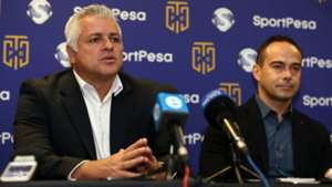 Cape Town City FC owner and chairman, John Comitis (left) and SportPesa Director, Gene Grand