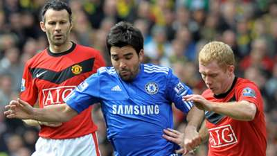 Ryan Giggs Deco Paul Scholes Manchester United Chelsea 2010