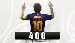 Messi 400 Goal