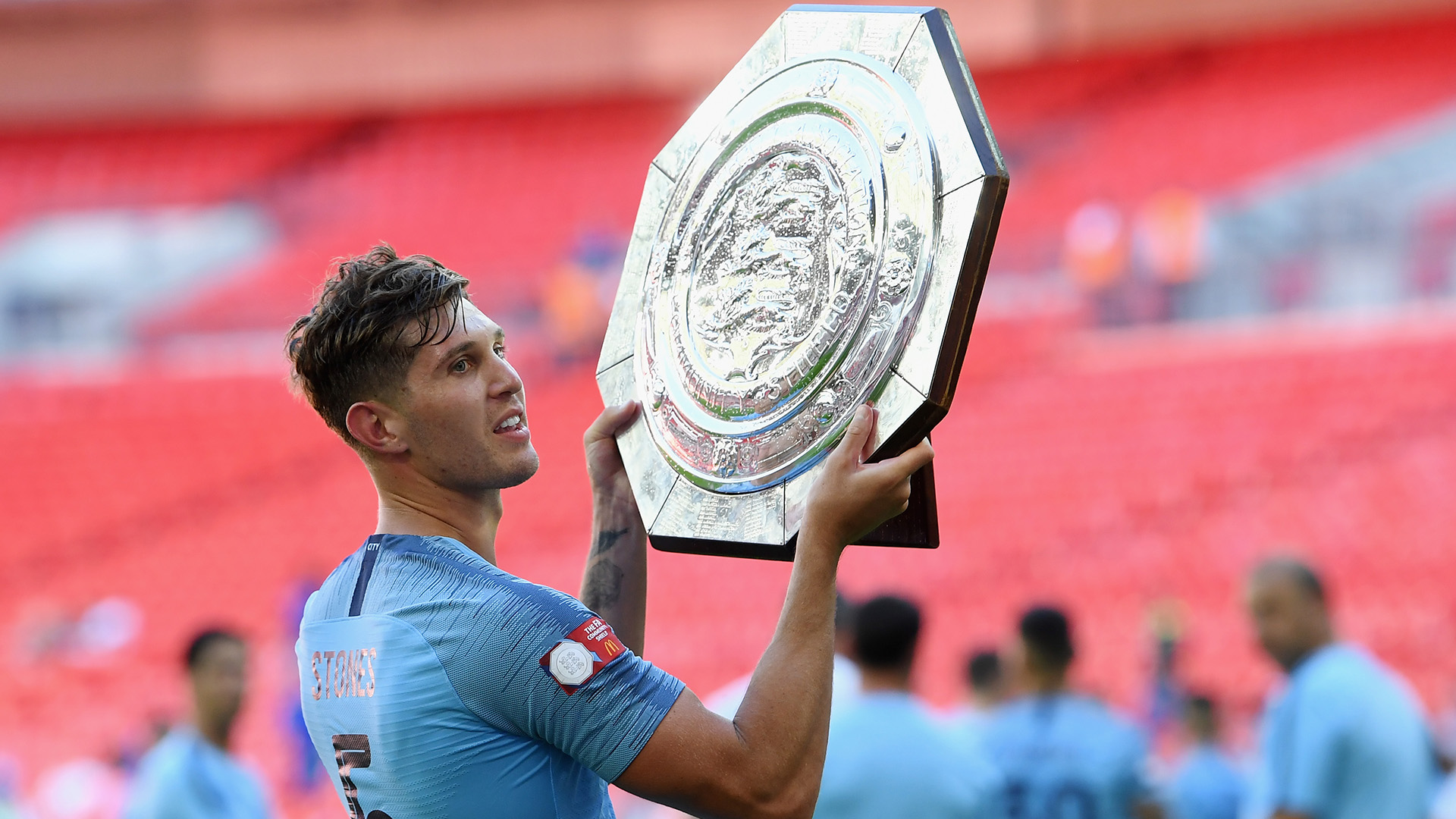 John Stones Manchester City Community Shield 2018