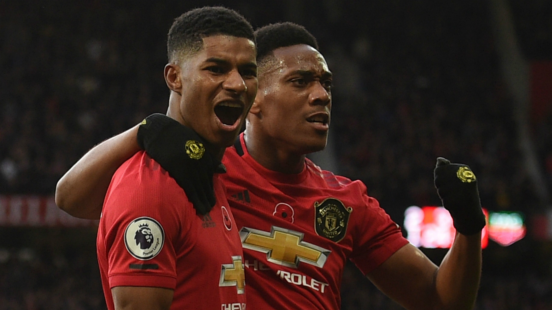Marcus Rashford Anthony Martial Manchester United 2019-20