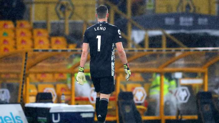 Bernd Leno, Arsenal red card vs Wolves