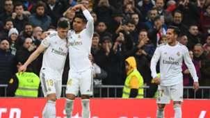 Casemiro Luka Jovic Lucas Vazquez Real Madrid Sevilla LaLiga 18012020