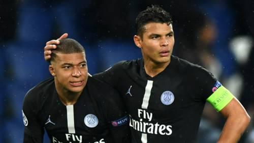 Kylian Mbappe Thiago Silva PSG Paris Saint-Germain 2018-19