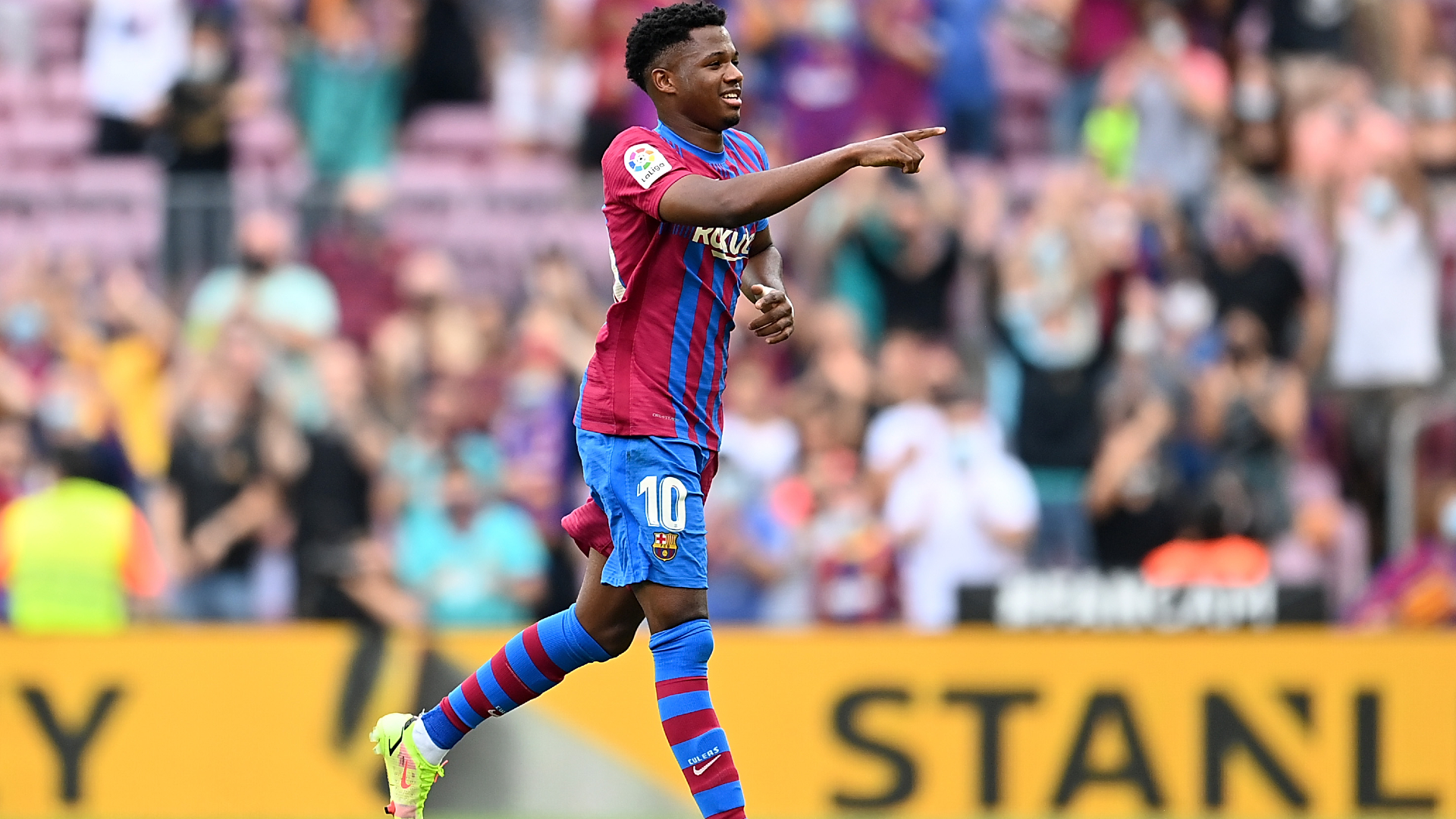 Ansu Fati scores in first Barcelona appearance in 10 months